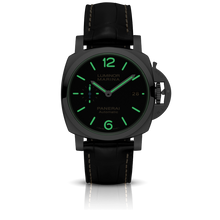 Load image into Gallery viewer, Panerai PAM1392 black dial, mixed indexes, night indicator
