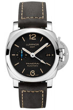 Load image into Gallery viewer, Authentic Panerai Luminor 1950 3 Days GMT Automatic Acciaio PAM 1535 Watch