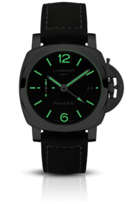 Panerai PAM1535 black dial, mixed indexes, sword hands, date display, night indicator