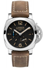 Load image into Gallery viewer, Authentic Panerai Luminor 1950 3 Days GMT Power Reserve Automatic Acciacio 42mm PAM 1537 Watch