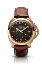 Load image into Gallery viewer, Authentic Panerai Luminor 1950 8 Days GMT Oro Rosa PAM 289 Watch