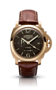 Authentic Panerai Luminor 1950 8 Days GMT Oro Rosa PAM 289 Watch