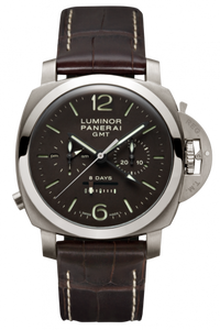Authentic Panerai Luminor 1950 Chrono Monopulsante 8 Days GMT Titanio PAM 311 Watch
