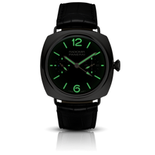 Load image into Gallery viewer, Panerai PAM316 black dial, mixed indexes, stick hands