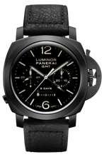 Load image into Gallery viewer, Authentic Panerai Luminor 1950 Chrono Monopulsante 8 Days GMT Ceramica PAM 317 Watch