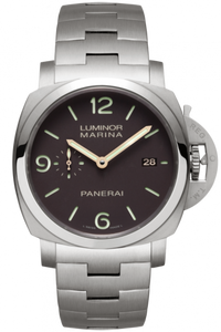 Authentic Panerai Luminor 1950 Marina 3 Days Automatic Titanio Bracelet PAM 352 Watch