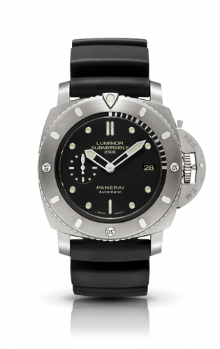 Authentic Panerai Luminor 1950 Submersible 2500M 3 Days Automatic Titanio PAM 364 Watch