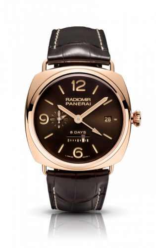 Authentic Panerai Radiomir 8 Days GMT Oro Rosso PAM395 Limited Edition Watch