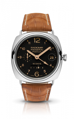 Authentic Panerai Radiomir 10 Days GMT Platino PAM 495 Limited Edition Watch