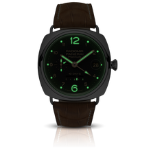Load image into Gallery viewer, Panerai PAM495 black dial, Arabic numerals indexes, stick hands, night indicator