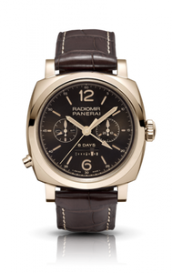 Authentic Panerai Radiomir 1940 Chrono Monopulsante Left-handed 8 Days Oro Rosso PAM502 Limited Edition Watch