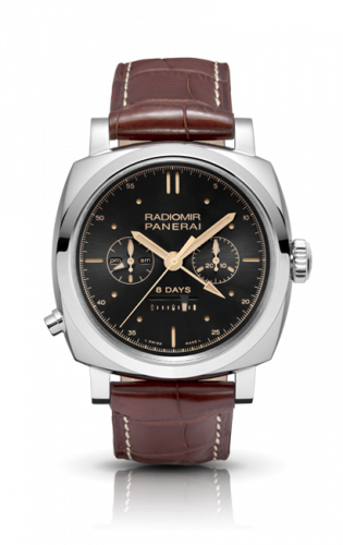 Authentic Panerai Radiomir 1940 Chrono Monopulsante Left-Handed 8 Days Oro Bianco PAM503 Limited Edition