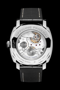 Panerai PAM512 made of stainless steel, sapphire glass, powered by P.999/1 caliber