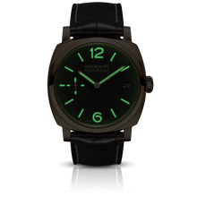 Load image into Gallery viewer, Panerai PAM515 brown dial, mixed indexes, stick hands, night indicator