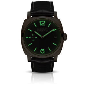 Panerai PAM515 brown dial, mixed indexes, stick hands, night indicator