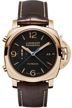 Load image into Gallery viewer, Authentic Panerai Luminor 1950 3 Days Chrono Flyback Automatic Oro Rosso PAM 525 Watch
