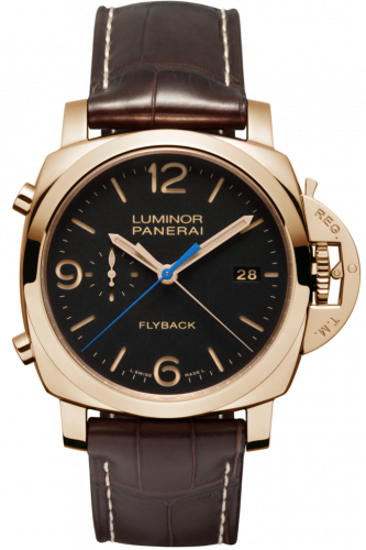 Authentic Panerai Luminor 1950 3 Days Chrono Flyback Automatic Oro Rosso PAM 525 Watch
