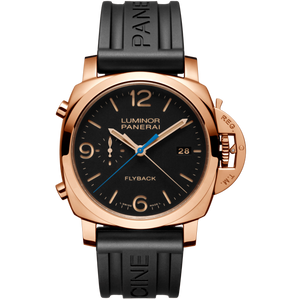Panerai PAM525 wristwatch with leather strap or black rubber strap