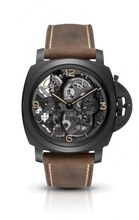 Load image into Gallery viewer, Authentic Panerai Luminor 1950 Tourbillon GMT Ceramica Lo Scienziato PAM 528 Watch