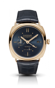 Authentic Panerai Radiomir 8 Days GMT Oro Rosso Blue PAM 538 Watch