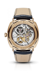 Panerai PAM538 made of pink gold and sapphire glass, partially skeletonized finish