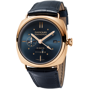 Buy Sell Trade-in Panerai Radiomir 8 Days GMT Oro Rosso Blue PAM538 at Time Galaxy Watch