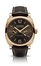 Load image into Gallery viewer, Authentic Panerai Radiomir 1940 Tourbillon GMT Oro Rosso PAM 558 Limited Edition Watch