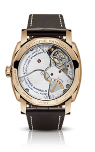 Panerai PAM558 made of Red Gold, sapphire glass, brown dial, tourbillon escapement