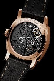 Panerai PAM559 made of red gold, sapphire glass, skeleton dial, tourbillon escapement