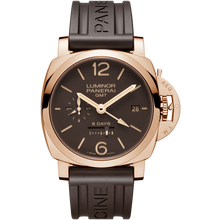Load image into Gallery viewer, Buy Sell Panerai Luminor 1950 8 Days GMT Oro Rosso PAM 576 at Time Galaxy Watch Online Store