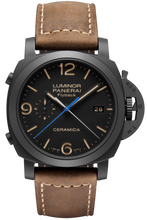 Load image into Gallery viewer, Authentic Panerai Luminor 1950 3 Days Chrono Flyback Automatic Ceramica PAM 580 Watch