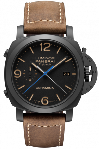 Authentic Panerai Luminor 1950 3 Days Chrono Flyback Automatic Ceramica PAM 580 Watch