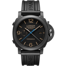 Load image into Gallery viewer, Buy Sell Panerai Luminor 1950 3 Days Chrono Flyback Automatic Ceramica PAM 580 watch with Rubber Strap at Time Galaxy
