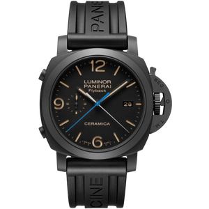 Buy Sell Panerai Luminor 1950 3 Days Chrono Flyback Automatic Ceramica PAM 580 watch with Rubber Strap at Time Galaxy