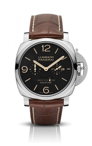 Authentic Panerai Luminor 1950 Equation of Time 8 Days Acciaio PAM 601 Limited Edition Watch
