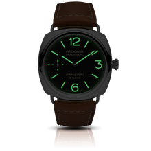 Load image into Gallery viewer, Panerai PAM609 black dial, sunburst finish, mixed indexes and stick hands