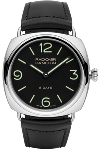 Authentic Panerai Radiomir Black Seal 8 Days Accaio PAM 610 Watch