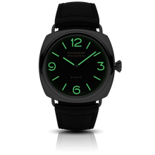 Load image into Gallery viewer, Panerai PAM 610 black dial, mixed indexes and stick hands