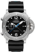 Load image into Gallery viewer, Authentic Panerai Submersible 3 Days Chrono Flyback Automatic Titanio PAM 614 Watch