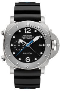 Authentic Panerai Submersible 3 Days Chrono Flyback Automatic Titanio PAM 614 Watch