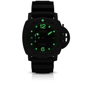 Panerai PAM616 black dial, mixed indexes, water resistant up to 300 m