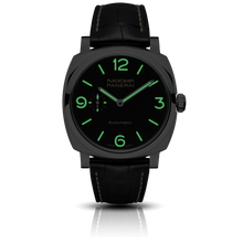 Load image into Gallery viewer, Panerai PAM620 black dial, mixed indexes, stick hands, night indicator
