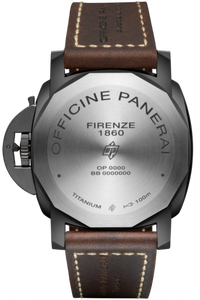 Panerai PAM629 made of Titanium, sapphire glass, DLC coating, 100 m water resistance