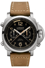 Load image into Gallery viewer, Authentic Panerai Luminor 1950 Regatta PCYC 3 Days Chrono Flyback Automatic Titanio PAM 652 Watch