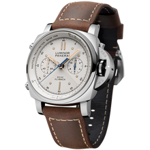 Load image into Gallery viewer, Buy Sell Panerai Luminor 1950 PCYC Chrono Flyback Automatic Acciaio Ivory PAM 654 at Time Galaxy Watch