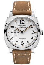 Load image into Gallery viewer, Authentic Panerai Radiomir 1940 42 3 Days Automatic Acciaio White PAM 655 Watch