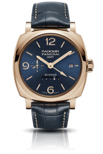 Load image into Gallery viewer, Authentic Panerai Radiomir 1940 10 Days GMT Oro Rosso Boutique Blue PAM 659 Limited Edition Watch