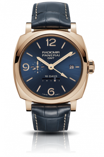 Authentic Panerai Radiomir 1940 10 Days GMT Oro Rosso Boutique Blue PAM 659 Limited Edition Watch