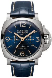Authentic Panerai Luminor 1950 Equation of Time 8 Days Titanio Blue PAM 670 Watch, production is limited to 500 pieces a year