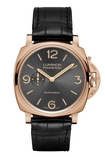 Authentic Panerai Luminor Due 45 3 Days Automatic Oro Rosso PAM 675 Watch
